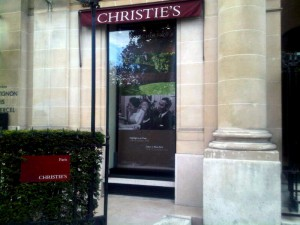 Christie's Banner in Paris